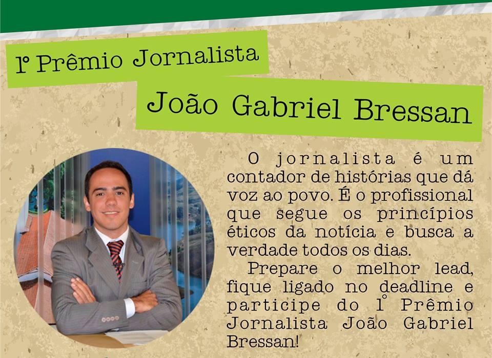 Concurso para alunos de Jornalismo homenageia João Gabriel Bressan