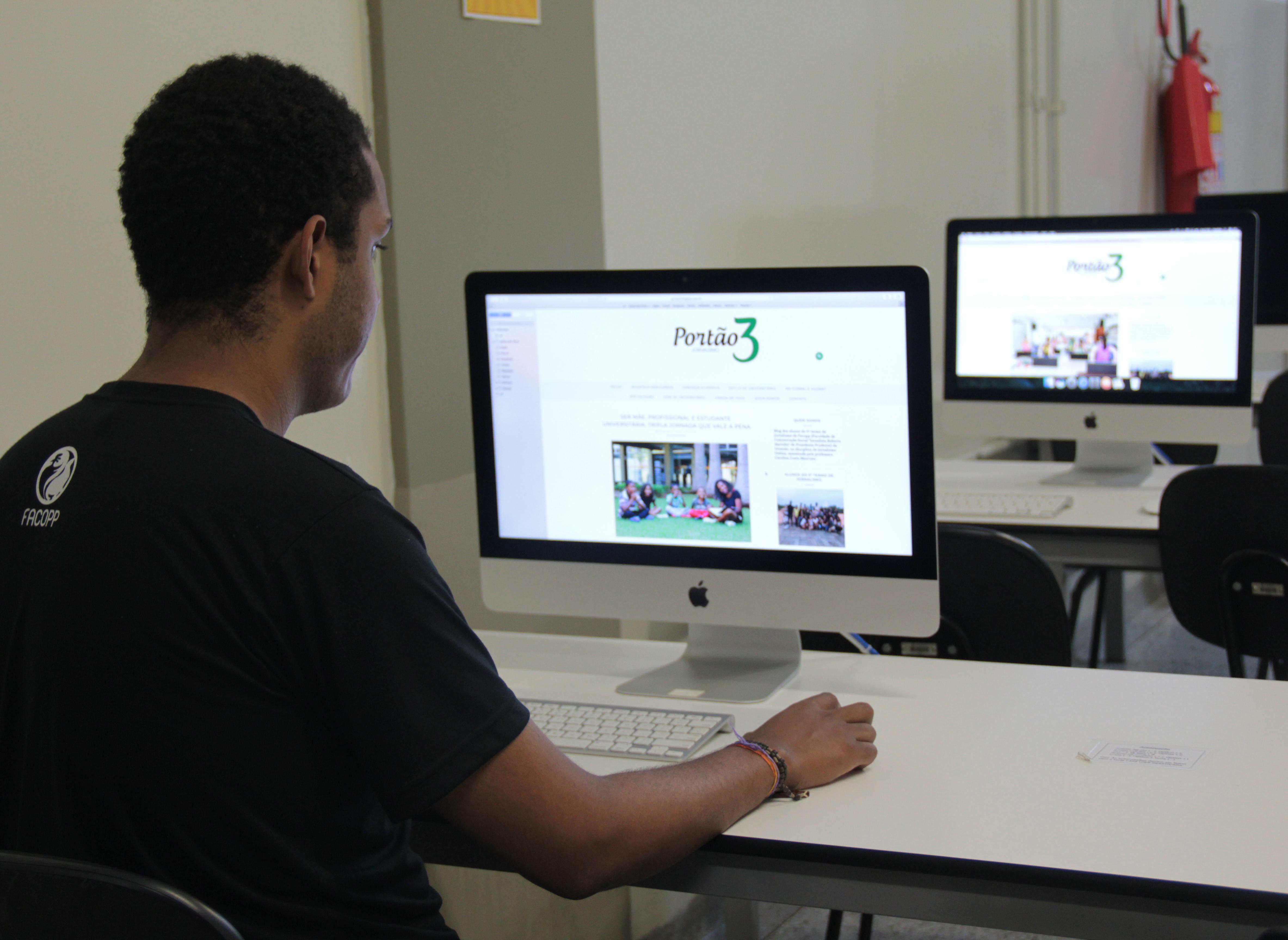 Alunos de Jornalismo aprimoram blog Portão 3