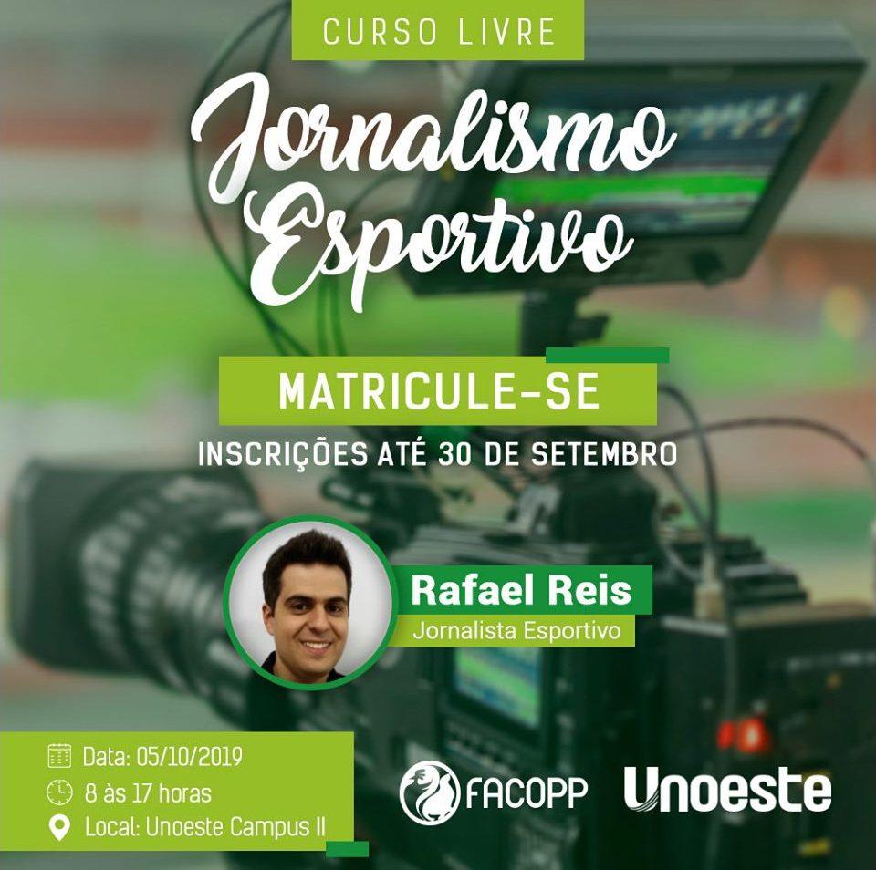Curso livre de Jornalismo Esportivo será realizado na Unoeste