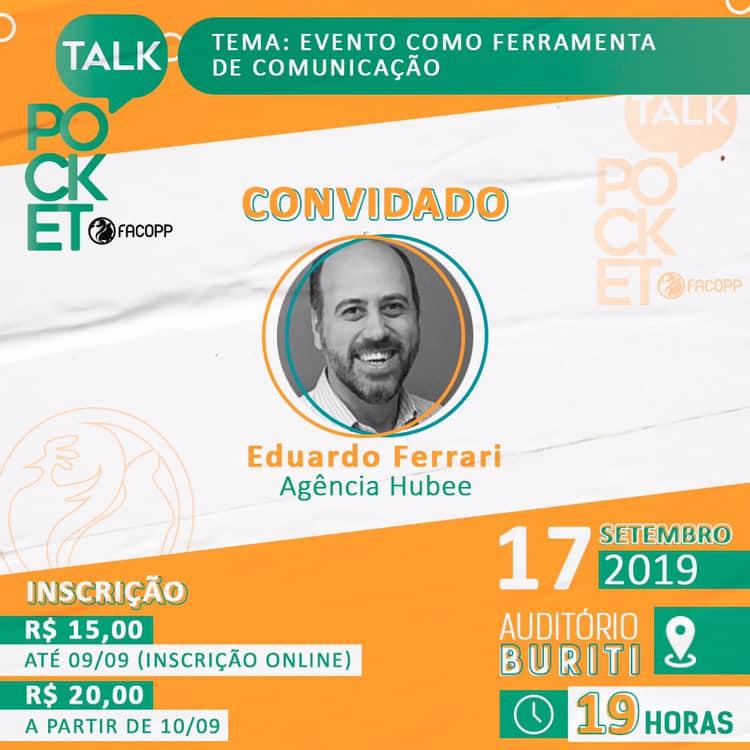 Eduardo Ferrari discute evento como uma estratégia de comunicação