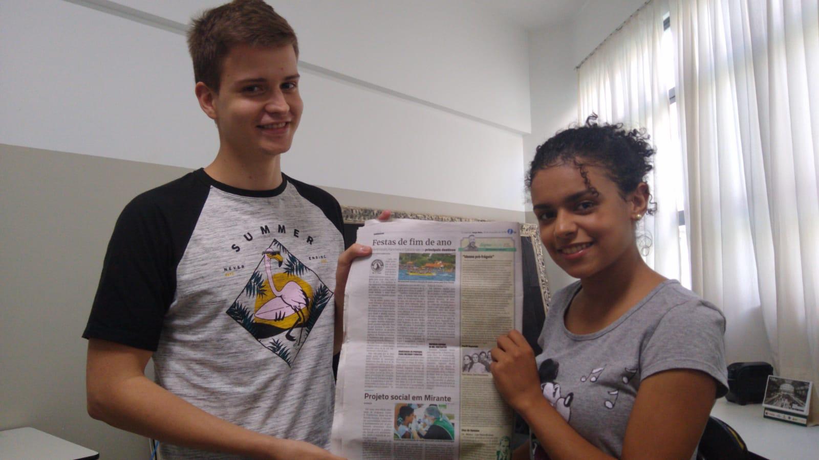 Graduandos têm matéria publicada no jornal O Imparcial
