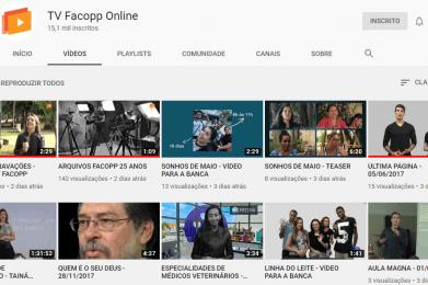 TV Facopp finaliza migração de vídeos para canal do Youtube