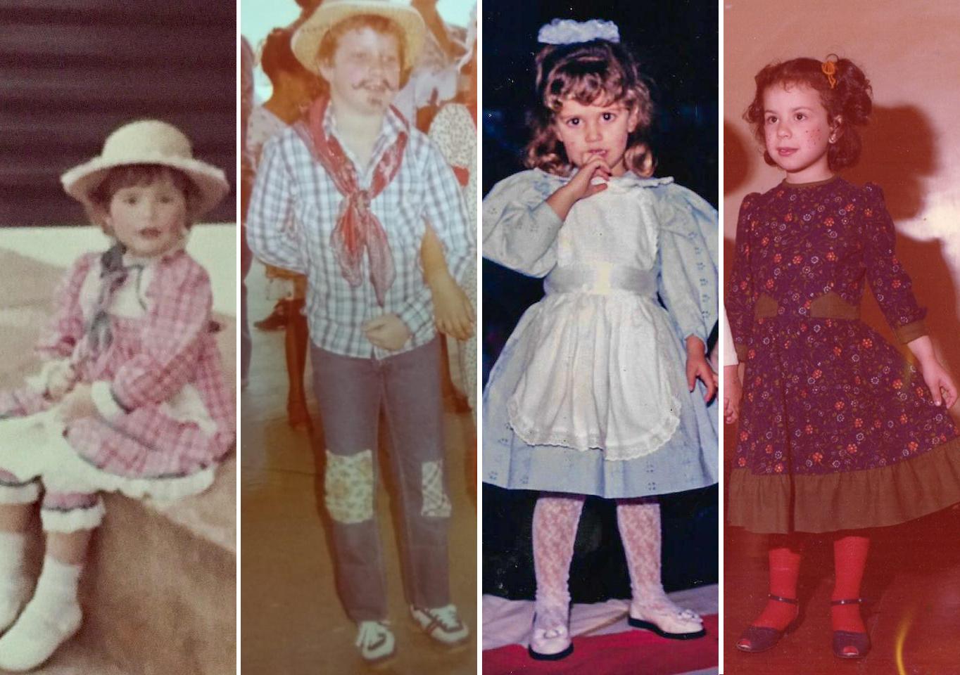 São João: Adivinhe quem são os caipirinhas da Facopp na infância