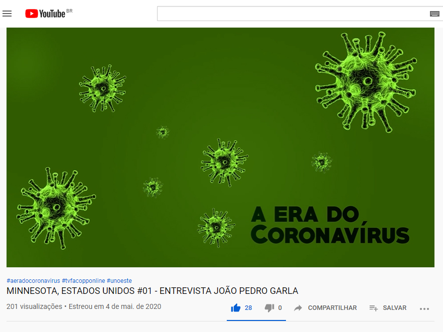 TV Facopp produz série de entrevistas sobre pandemia