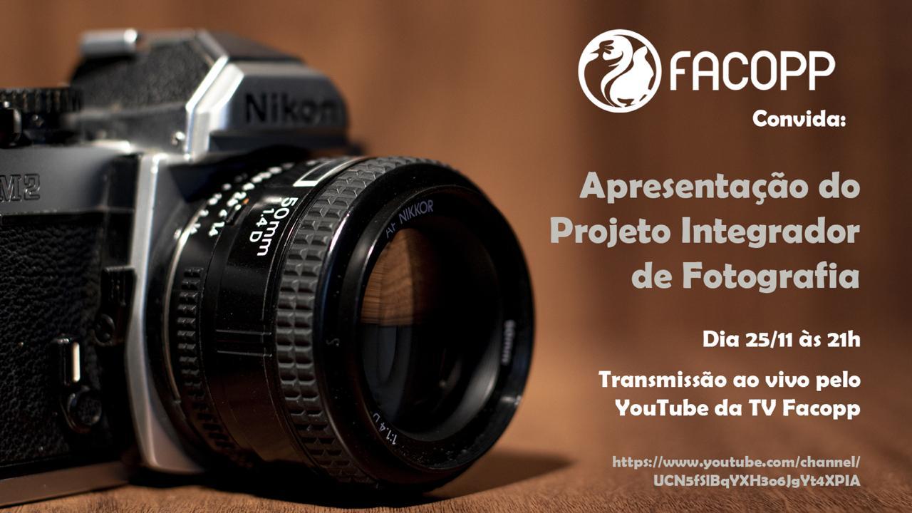 Alunos de Fotografia apresentam material institucional feito para a Facopp