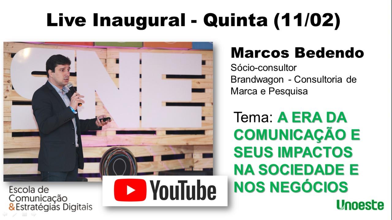 Live inaugural vai tratar dos impactos da comunicação na sociedade e nos negócios