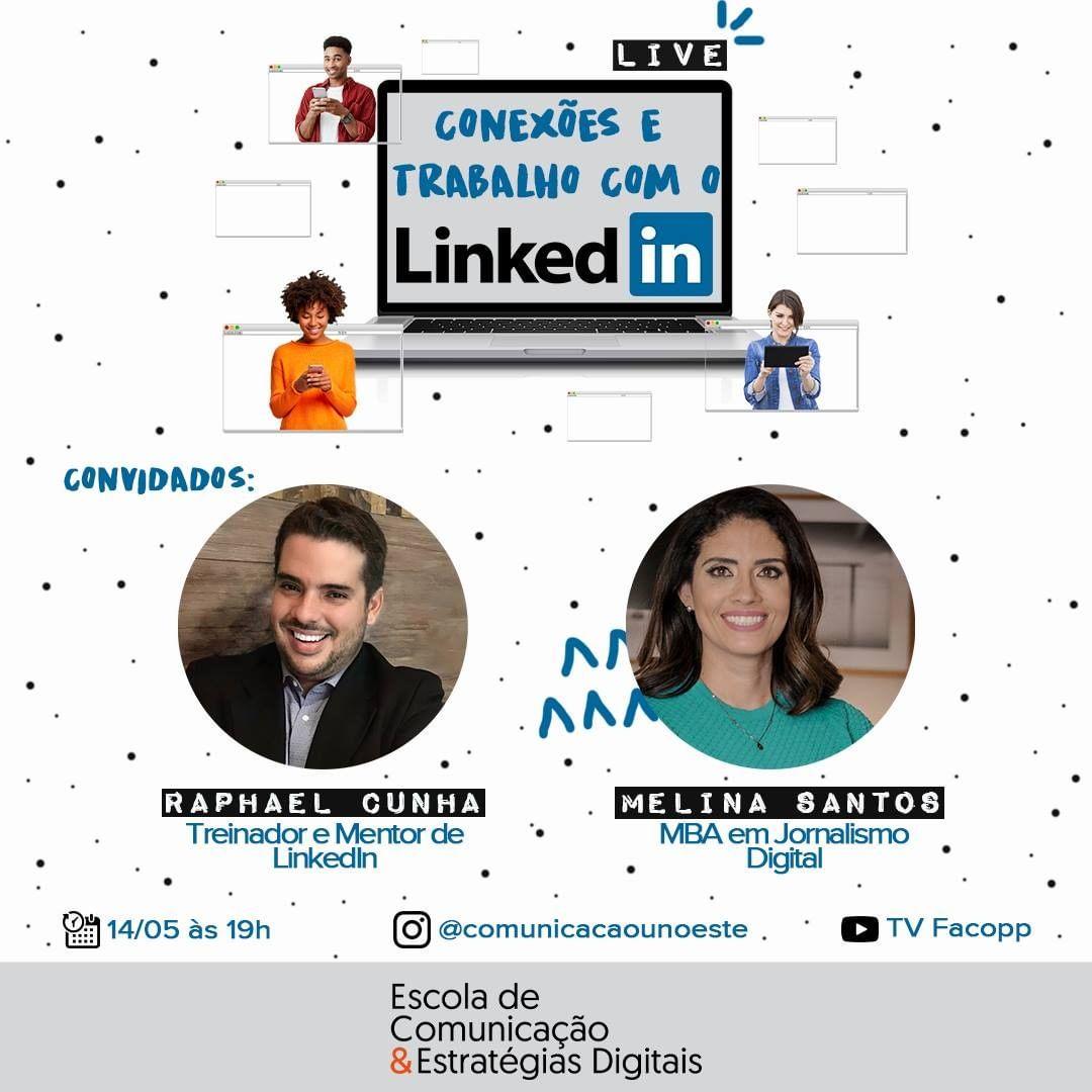 Quinta live vai tratar aspectos das conexões e trabalho com o LinkedIn