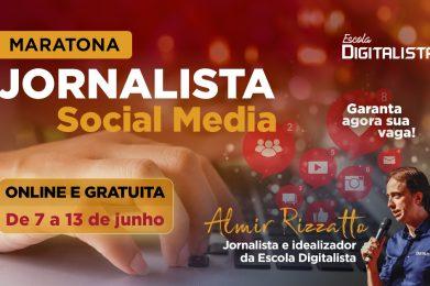 Escola Digitalista oferece Maratona Jornalista Social Media com aulas ao vivo e gravadas