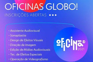 TV Globo oferta oportunidades para oficinas em oito áreas diferentes